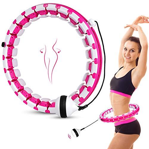 Aweohtle Fitness Hula Reifen Hoola Hup Reifen Massage Gymnastikreifen 24 Bewegliche und Einstellbar Hullahub Smart Gewichtsverlust für Erwachsene Kinder zur Gewichtsabnahme