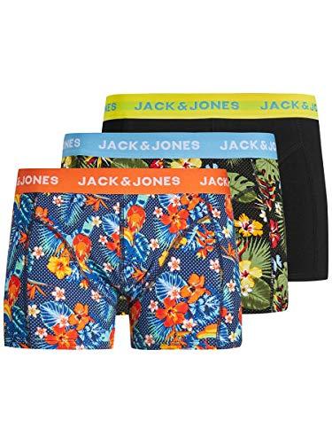 JACK & JONES Male Boxershorts 3er-Pack floral gemusterte SFiery Red