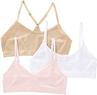 City Threads Girls Training Bras in All Cotton Starter Bras for Young and Little Girls