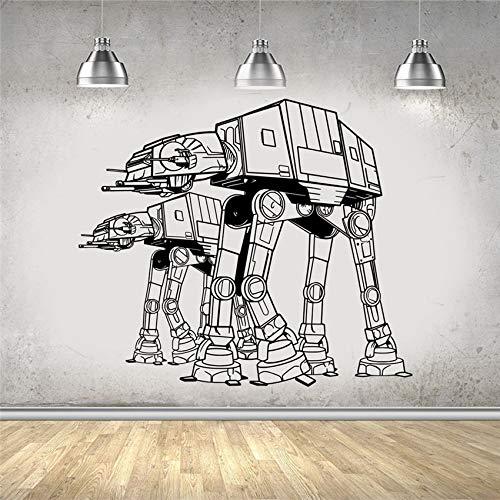 Estrella de cine de ciencia ficción de Hollywood AT-AT Robot Transport Wars calcomanía niños habitación de niño dormitorio sala de estar decoración del hogar vinilo pared pegatina arte mural cart