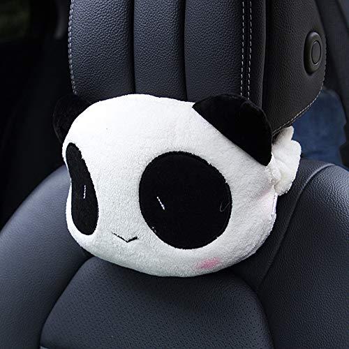 seemehappy 2PCS Cute Panda Plush Auto Car Seat Headrest Neck Rest Cushion Pillow (PD02)