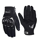 Pitzo MCS17 Riding Tribe Nylon-mesh Men's Protective Screen Touch Racing Biker Gloves (Black)