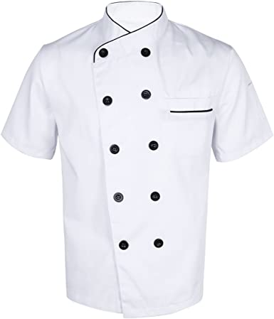 Freebily Casaca Chef Hombre Uniforme Cocina Bar Restaurante ...