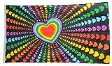 Fahne / Flagge Regenbogen Liebe + gratis Sticker, Flaggenfritze®