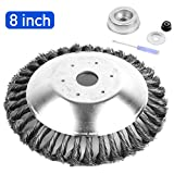 AR-PRO 8-inch Rotary Weed Brush Blades with Universal Adapter Kit Trimmer for Husqvarna/Stihl/Ego/Oregon/Hitachi/Honda and More – Cuts Like Butter