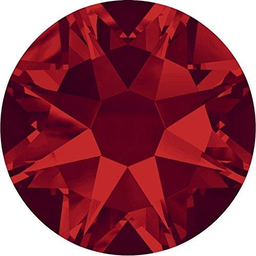 Swarovski 100 Stück 2088 XIRIUS KEIN Hotfix, Light Siam (Rot), SS16 (Ø ca. 4 mm), Strasssteine zum Aufkleben