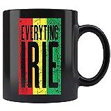 Taza de café con bandera rastafari de Jamaica, tazas de té de 11 oz 5DRXXV