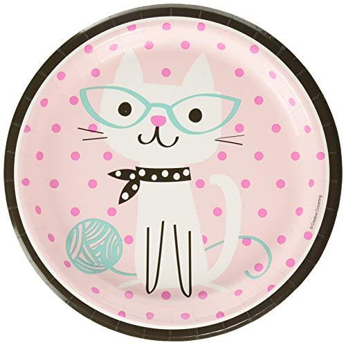 PurrFect Party Assiette 23 cm Motif chats