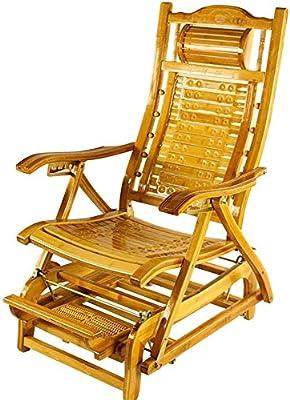 椅子 折りたたみ 昼休みの外のバルコニーを振るエンターテイメント老人ロッキング折りたたみ竹(カラー,B),B