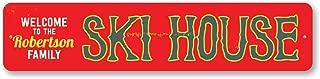 The Lizton Sign Shop Ski House Sign, Personalized Welcome Ski Lodge Sign, Custom Family Name Sign, Metal Family Ski Lodge Decor - Quality Aluminum ENSA1001580-6 x24 Quality Aluminum Sign