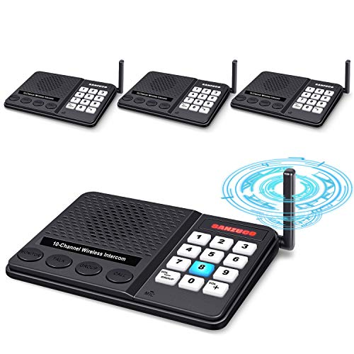 GLCON Long Range Wireless Intercoms System for Apartments, Elderly, 1 Mile Range Wifi Intercom For Home.