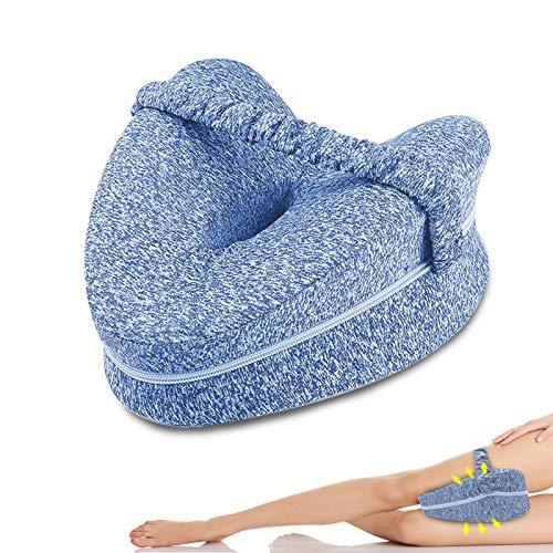 Almohadas posicionadoras de Pierna (Azul),Almohada para Piernas Rodillas,Espuma con Memoria,Puede aliviar la Fatiga de la Espalda y Las Rodillas,Diseño ergonomico