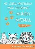LIBRO PARA COLOREAR ANIMALES: DIBUJOS DE ANIMALES PARA COLOREAR PARA NIÑOS. CONTIENE MÁS DE 25 ANIMALES MARINOS, AVES Y REPTILES PARA PINTAR. (A PARTIR DE UN AÑO)