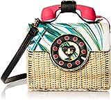 Betsey Johnson Wicker Palm Print Phone Bag, multi