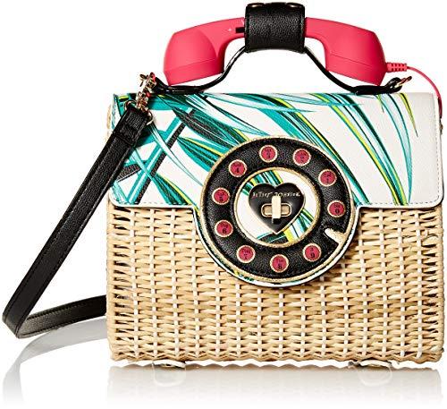 Betsey Johnson Damen Palm Print Phone Bag Wicker Palmenaufdruck, Handytasche, multi, Einheitsgröße
