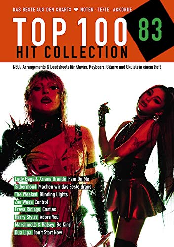 Top 100 Hit Collection 83: 8 Chart Hits: Rain On Me - Machen wir das Beste draus - Blinding Lights - Control - Castles - Adore you - Be Kind - Don't ... Keyboard / Gitarre / Ukulele. (Music Factory)