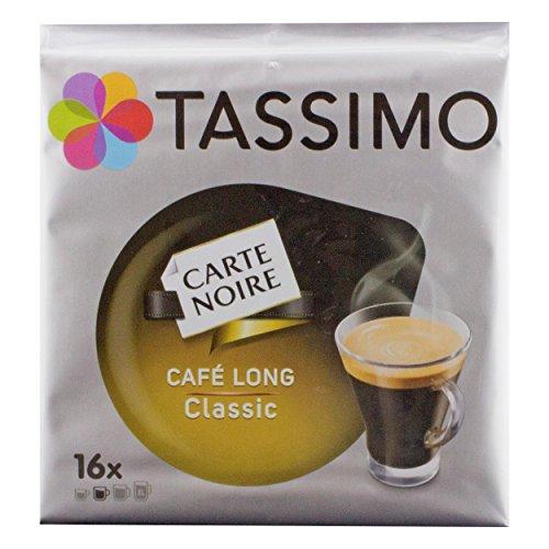 Tassimo Carte Noire Cafe Long Classic / Voluptuoso, Vollmundig, Kaffee, Kaffeekapsel, gemahlener Röstkaffee, 16 T-Discs