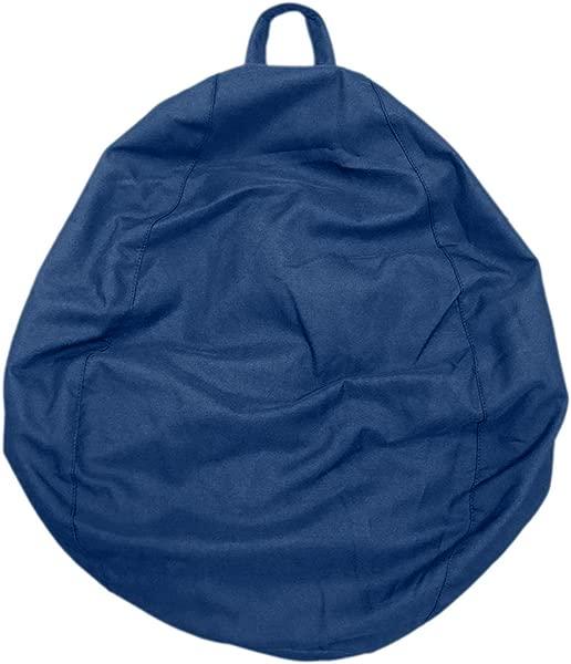 LOVIVER 100120cm XXL Bean Bag Cover Sofa Slipcover Perfect For Stuffed Animal Toys Storage Deep Blue