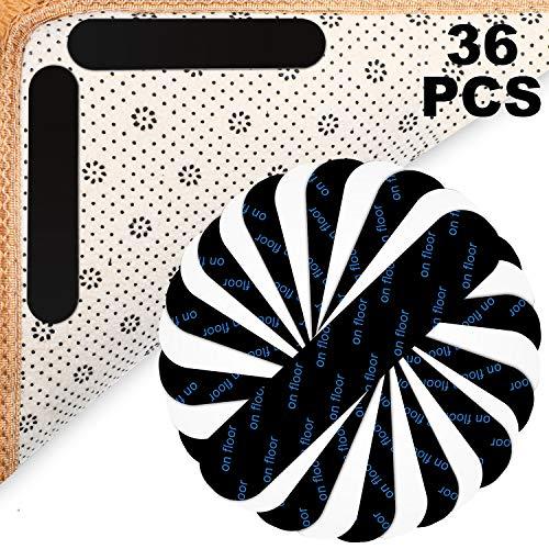 36 Stücke Anti Kringeln Teppich Greifer rutschfeste Teppich Greifer Klebrige Teppich Bereich Greifer für Halten Sie Ihren Teppich an Ort und Machen Ecken Flach