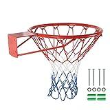 "Basketball Mounted Rim Basketball Replacement Rim D15""/18"" Indoor Outdoor Basketball Hoop Rims"