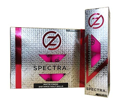 Zero Friction Spectra Golfbälle, 12 Stück, Neon Fuchsia (GB60001)