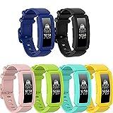 Ruentech Correas compatibles con Fitbit Ace 2 Activity Tracker Correa de silicona de repuesto para niños, compatible con Fitbit Ace 2 Fitness Tracker correas de reloj para niños (colores 6A)