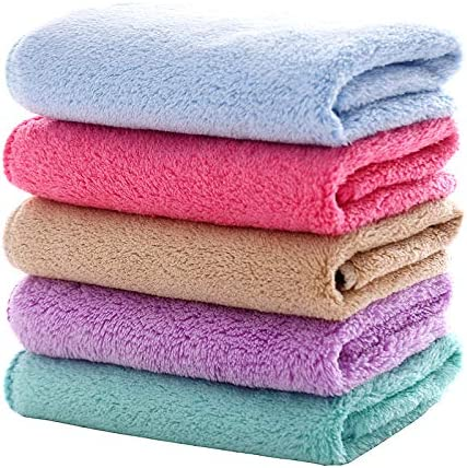 MUKIN Baby Washcloths Set Microfiber Coral Fleece Face Towel for Newborns Infant Toddlers or product image