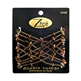 Zhoe Double Hair Combs 10166 Chestnut