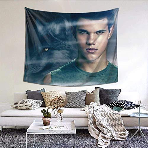 Taylor Daniel Lautner Tapiz The-Twilight-Saga manta para colgar en la pared, arte de pared, decoración del dormitorio, tapiz de 45,72 x 45,72 cm