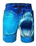 RAISEVERN Tronco de natación de Secado rápido para Hombres Gráficos 3D Summer Summer Shorts Surfing Trunks