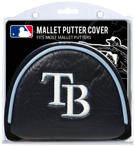 Team Golf MLB Tampa Bay Rays Golf Club Mallet Putter Headcover, Fits Most Mallet Putters, Scotty Cameron, Daddy Long Legs, Taylormade, Odyssey, Titleist, Ping, Callaway
