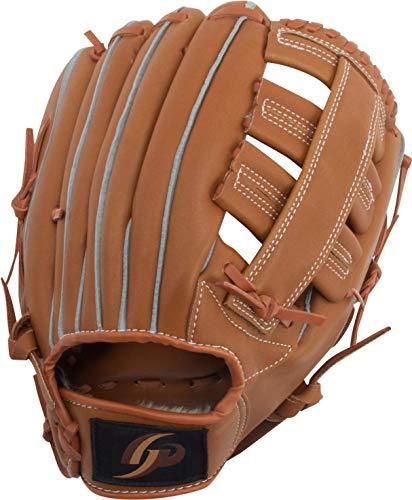 GP (ジーピー) 野球 グローブ 軟式 一般 右投げ用 オールラウンド 12.5インチ ブラウン 36869Y