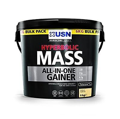 USN Hyperbolic Mass All-In-One Gainer Shake Powder, Vanilla, 6 kg from USN