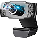 Replitel Webcam with Microphone, 1080P HD Streaming USB Computer Webcam for PC Video Conferencing/Calling/Gaming, Laptop/Desktop Mac, Skype/Youtube/Zoom/Facetime-Plug and Play (Black)