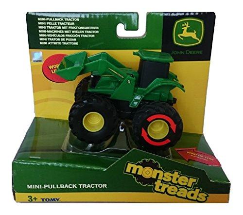 Tomy John Deere - 37650A1 - Véhicule Miniature - Modèle Simple - Monster Treads Rétrofriction - Modèle Aléatoire