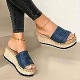 B/H Zapatos de Playa y Piscina Unisex Adulto,Zapatillas, Pendientes y Tacones Altos, Ropa a Juego para Prendas Exteriores-Blue_37