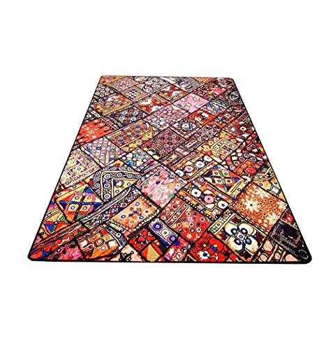 DT-Passatoia Moquette Designer Moderno Geometrico Etnico Classico Soggiorno Tavolino Divano Letto Tappeto Rettangolare da Letto (Dimensioni : 140 * 200cm)