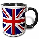 3dRose British Flag Mug, 11 oz, Black