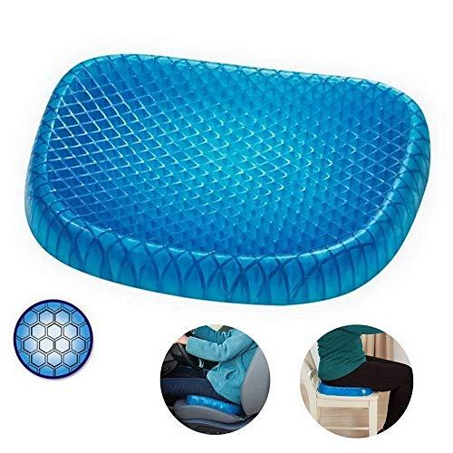 Stormianna Tragbares Gel-Sitzkissen mit rutschfestem Bezug für Rückenschmerzen Honeycomb Cooling-Sitzkissen für das Home-Office-Auto Rollstuhl