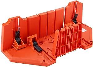Caja de inglete de sujeción, caja de almacenamiento de sierra de plástico de 14 pulgadas, herramienta de corte de madera con abrazadera