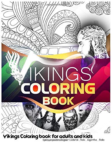 Vikings Coloring book for adults and kids: björn ironside , Ragnar Lodbrok ,Floki , lagertha , Rollo , funny gifts for adults and Kids (5.8x11)