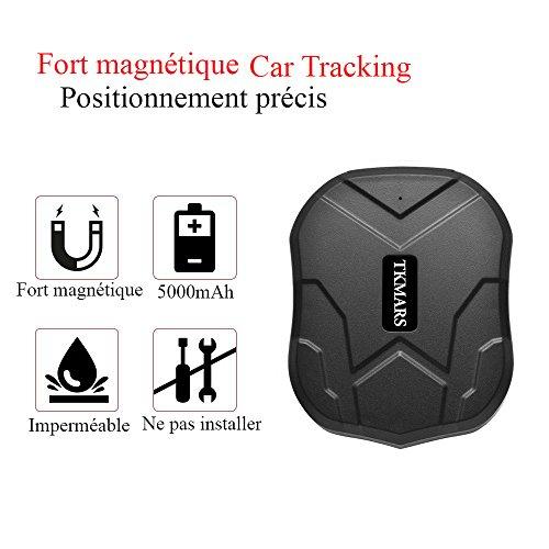 tkmars tk905 - Localizador GPS para vehículos con imán, seguimiento para los coches y Moto inalámbrico IP66 impermeable - Localizador GPS en tiempo real pas de gastos extra-long