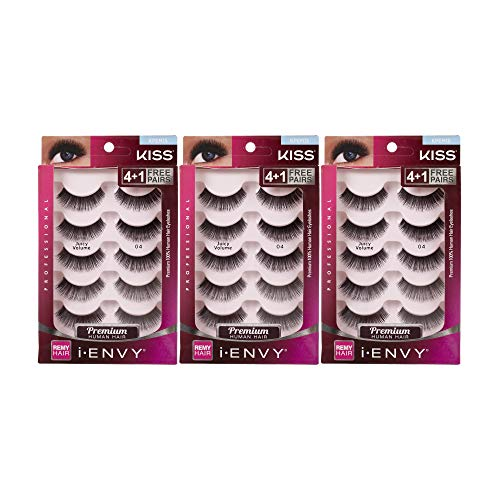 Kiss I Envy Juicy Volume 15 Value Pack 4+1 Lashes by Kiss