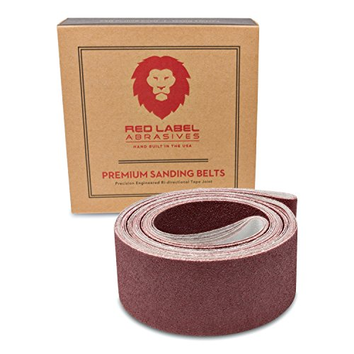 2 X 72 Inch Flexible Aluminum Oxide Premium Quality Multipurpose Sanding Belts 60, 80, 120, 220, 320, 400 Grit, 6 Pack Assortment