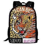 SARA NELL School Backpack Wild Animals Skin Tiger Zebra Bookbag Casual Travel Bag For Teen Boys Girls