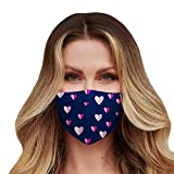 Washable Face Mask with Adjustable Ear Loops & Nose...