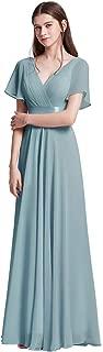 Ever-Pretty Women's Short Flutter Sleeves Long Floor Length A Line Chiffon Empire Waist Evening Dresses 09890