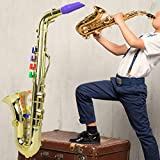 【𝐎𝐟𝐞𝐫𝐭𝐚𝐬 𝐝𝐞 𝐁𝐥𝐚𝐜𝐤 𝐅𝐫𝐢𝐝𝐚𝒚】Modelo de saxofón Instrumento musical para niños Saxofón infantil, Saxofón, Decoración de regalo de cumpleaños para niños Adorno Entusiasta(Golden)