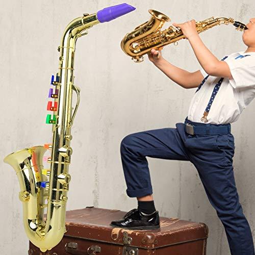 𝐖𝐞𝐢𝐡𝐧𝐚𝐜𝐡𝐭𝐬𝐠𝐞𝐬𝐜𝐡𝐞𝐧𝐤 Geburtstagsgeschenk Musikinstrument Saxophon Modell Saxophon, S-Saxophon Spielzeug Mini Saxophon Saxophon Spielzeug, Enthusiast für Kinder Schmuck Dekoration(Golde