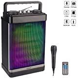 RHM Portable Karaoke Speaker with Microphone,PA System...